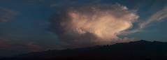 Thunderhead over Mount Graham (em_burk) Tags: canon arizona mountgraham monsoon cloud cumulonimbus thunderhead huge sunset skyisland pinaleos storm sky contrast panorama clouds landscape nature summer silhouette