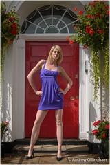 Izabela-3118 (AndyG01) Tags: door blue red bristol model dress short blonde tall clifton izabela royalyorkcrescent shortdress kowalewska