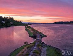 Rainbow Bridge (ExpatPNW) Tags: sunset washington dusk olympia pacificnorthwest wa pugetsound pnw rainbowbridge olywa buddinlet pnwonderland
