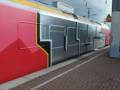 OMS (mkorsakov) Tags: red rot train silver graffiti zug bahnhof hbf dortmund silber wholecar oms rb50 derlnener