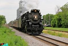 Race to Avalon (BravoDelta1999) Tags: railroad wisconsin avalon thevarsity milw nickelplate nkp wsor 284 milwaukeeroad 765 wisconsinandsouthern limalocomotiveworks berkshiretype foxlakesubdivision