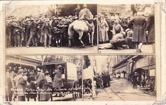 Scenes taken after the collapse of verandah awning in Melbourne - July 1925 (Aussie~mobs) Tags: awning accident australia melbourne victoria collapse 1925 injured fleetparade