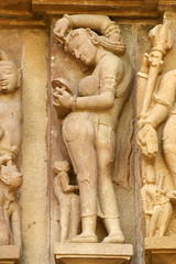 Lakshmana temple, Khajuraho. (Sanjay P. K.) Tags: india architecture temple erotic hindu khajuraho eroticism madhyapradesh chandela