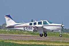 G-EISG Beech A36 Bonanza R J & B Howard Sturgate Fly In 05-06-16 (PlanecrazyUK) Tags: sturgate egcv fly in 050616 geisg beecha36bonanza rjbhoward fly in