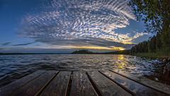 Clouds (Kari Siren) Tags: sunset summer sky cloud lake finland pier jaala karijarvi