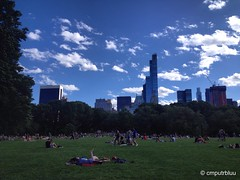 It Was A Good Day (cmputrbluu) Tags: nyc newyorkcity skyline clouds centralpark iphone sheepmeadow iphoneography iphone4s