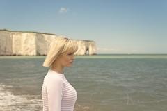 Contemplation 2 (corrine8) Tags: longexposure sea portrait sun june sand sophie naturallight blueskies margate vikingbay 2016
