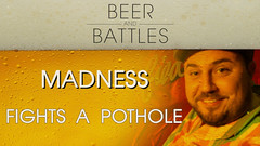 BEER & BATTLES: Madness  Fights A Pothole... (battledomination) Tags: beer battles madness  fights a pothole battledomination battle domination rap hiphop dizaster the saurus charlie clips murda mook trex big t rone pat stay conceited charron lush one smack ultimate league rapping arsonal king dot kotd freestyle filmon