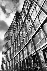 BRYAN_20160225_IMG_1684 (stephenbryan825) Tags: reflection glass architecture liverpool buildings graphic curves vivid wideangle persective selects wideangledistortion