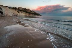 Cold Spring Sunset (luigig75) Tags: sunset sea sky italy seascape beach clouds italia mare puglia spiaggia vieste gargano 70d efs1022mmf3545usm parconazionaledelgargano