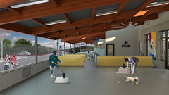 Guide Dogs for the Blind Puppy Center (Dreyfuss + Blackford Architecture) Tags: california plaza dogs architecture puppy education san blind young courtyard center heroes guide rafael facility academy architects healthcare blackford wellness dreyfuss birthing whelping 2014 2016 2015 enrichment gdb b4003 animalarts