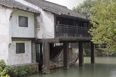 _MG_3971 (almei) Tags: china wuzhen  water river baot building garage watertown