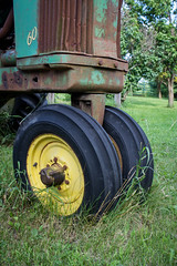 John Deere 60 (Photos By Clark) Tags: canon2470 canon60d locale location minnesota northamerica places unitedstates where delano tractor 60 deere john green old 1950 rust grass midwest farm lightroom