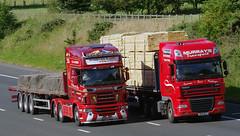 D Steven & Son of Wick Scania R620 SK62HFS and Murrays Transport DAF XF SY11ACJ (andyflyer) Tags: truck lorry artic wick hgv roadtransport dafxf scaniar620 dsteven stevensofwick sk62hfs murraystransport sy11acj
