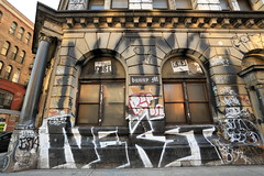 the buff has begun... (Luna Park) Tags: nyc streetart ny newyork graffiti spring manhattan cost bowery end buff lunapark gentrification mecca nekst 190bowery enx