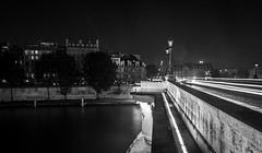 """ Midnight in Paris "" . (Reda Ait Saada) Tags: city travel bridge light summer sky white black paris building blanco luz dan lamp beautiful seine architecture night canon river puente la und europe noir y negro trails pont 1855mm brcke neuf et blanc  schwarz ville putih  hitam nachtlicht weis"