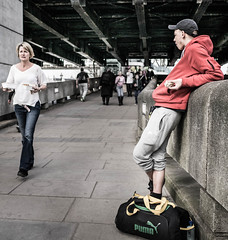 Puma? (Christopher Burdon) Tags: street london candid southbank puma laidback coollook 15mmf17