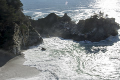 BeachWaterfall (iwishmynamewasmarsha) Tags: california pfeifferstatepark