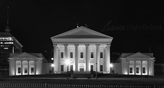 Virginia capitoloriginal building in center designed by Thomas Jefferson (Light Orchard) Tags: night evening virginia richmond va rva bruceschneider 2015lightorchard