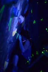 GRO_8379 (WK photography) Tags: chalk climbing blacklight bouldering grotto headlamp rockclimbing glowsticks guelphon rockshoes guelphgrotto