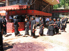 Procession of the Family at Torajan Funeral