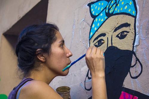 BAU 2013 Mural colectivo por Ro, Stfi!,T'ikay