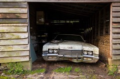 1972 Mercury Marquis in a Barn (Explored) (N.the.Kudzu) Tags: atlanta abandoned barn georgia suburban lincoln gwinnettcounty explored