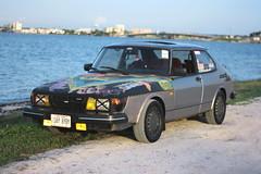 Next to the water. (Joe Folino ( LoopRunner )) Tags: anime art classic cars car japan america canon vintage rebel design chalk european sweden euro turbo designs hood chalkboard saab 900 boost t16 c900 xti