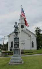 Congregational Church of Coventry, VT with Civil War Memorial Monument (pegase1972) Tags: usa church us vermont unitedstates newengland vt tatsunis