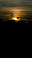 Blurry day (milachirolde) Tags: sunset espaa atardecer spain paisaje frommybalcony sonydsc ultimasluces lastray madridatardecer madridnights
