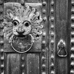 Knockers! (Ilovetodig0044) Tags: door old uk england blackandwhite bw art english history architecture bronze britain british knockers