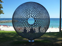turning stones - virginia king (Figgles1) Tags: sea sculpture art stones cottesloe sculpturebythesea sculptures turning 2015 virginiaking turningstones p1130742