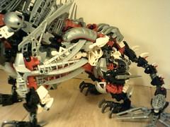 Moirai5 (DanielBrickSon) Tags: red sea white monster silver dragon lego technic bionicle moirai lagiacrus herfactory