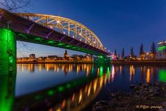John Forst bridge in green (www.petje-fotografie.nl) Tags: water licht arnhem gelderland spiegeling sterren jfbrug johnfrostbrugarnhem gebouwkleuren