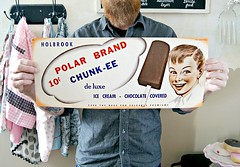 vintage Polar Bran Ice Cream poster (holiday_jenny) Tags: vintage poster lemon ad retro advertisement icecream 50s parlor bananasplit 40s