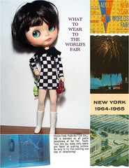 Blythe-a-Day April#29: Pretty Pattern: Nylah at the New York World's Fair