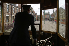 Beamish Tram Driver (D.J.Nelson Photography) Tags: tram beamish driver northeast
