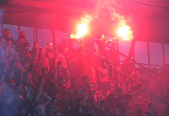Lit it up (nemico publico) Tags: praha sparta fans pyro slavia derby calcio ultras fanatics letna choreo