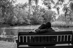 (dee3sk8er) Tags: white black love water contrast river pose bench way photography idea photo high couple stream shoot head couples together overlook overlooking shoulder ideas