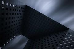 La puerta LaDfense (sgsierra) Tags: bw paris art clouds y negro fine nubes francia ladfense virado blando