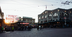 Pike Place Market at Sunset (Backpacking With Bacon) Tags: seattle washington market pikeplace