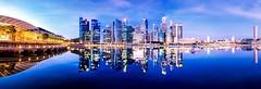 Twin Cities (.Randy.) Tags: city reflection cityscape waterfront panaroma