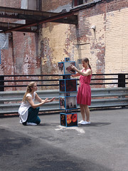 Courtney and Marcia (RETTOCAMME) Tags: ny art design dance performance installation choreography sitespecific artfestival rettocamme emmacotter docklandcounty garnerartscenter