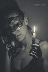 Masked 2011 (nemanjas.rs) Tags: light woman girl beauty face dark eyes candle dress mask secret cover masked mistery elegance nemanjas