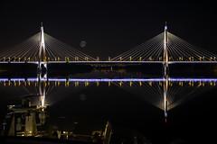 Megyeri Bridge (grbenson3) Tags: danube hungary megyeribridge budapest nightshot reflection top20bridges shining shiningexcellence
