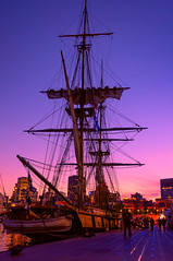 majestic (JimfromCanada) Tags: ship tallship sail sailing mast rig rigging sunset montreal harbour port dock niagara usbrigniagara brig festival furl yard boom night evening silhouette tall high pink blue sky lifeboat transportation historic vintage bluehour wow brilliant sailor