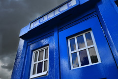 Blue Box (cylynex) Tags: uk scotland europe glasgow police doctorwho drwho tardis policebox bluebox