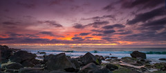 Sunset at Uttakleiv (Reidar Trekkvold) Tags: sunset sea seascape norway landscape seaside spring lofoten nordnorge vår nordland uttakleiv
