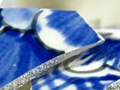 shards (muffett68 ) Tags: macro broken ceramic shards anythinggoes crockery blueandwhite possibility macromonday
