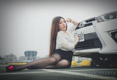 jaylin-0140 ( Jaylin) Tags: travel portrait stockings girl outside ol photo airport model women uniform open library longhair taiwan olympus lookout heels taipei sailor mirco omd pepole hight m43 mzd jelin linjay